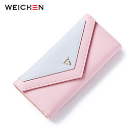 Wholesale Phone Envelope - New Geometric Envelope Clutch Wallet For Women, PU Leather Hasp Fashion Design Wallet For Phone Money Bags Coin Purse