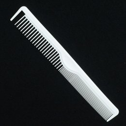 Wholesale Carbon Fiber Heated - Wholesale- Carbon Fiber Combs White Heat Resistant Long Cutting Comb Anti Static Barber Tool L117