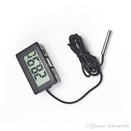 Wholesale Water Tank Digital Thermometer - Embedded Thermometer Mini LCD Display Electronic Digital Data Display Fish Tank Water Proof Probe Black And White Portable 3 7ys R