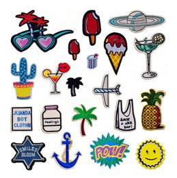Wholesale Decorative For Hats - Free Shipping Embroidered 20pcs Designs Sew on Small Patch for Clothing Hat Shoes Bag Decorative DIY Accessories Appliqued