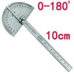 Wholesale Round Ruler - Stainless Steel Round Head 180 degree Protractor Angle Finder Rotary Measuring Ruler Machinist Tool Craftsman Digital Ruler
