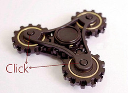 Wholesale Toy Gear Wheels - Limited Version New Fidget Toy Gear Chain Hand Spinner Finger Stress Relief Fidget Spinner Four Gear Wheels Spinning Decompression Toy DHL