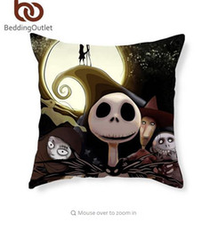 Wholesale Fabric Covered Cushions - BeddingOutlet Nightmare Before Christmas Cushion Cover Decorative Pillow Covers for Home 45cmx45cm