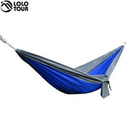 All'ingrosso- Portatile una persona paracadute Hammock Swing coperta esterna per il tempo libero Campeggio campeggio appendere giardino hamak Dormire hamac hamaca 230 * 90cm da