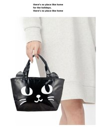 Wholesale Linen Evening Handbags - Fashion Cartoon Cat Face evening bag cartoon girl Handbags animal crystal Clutch bag diamond party Purse ladies prom handbag free shipping