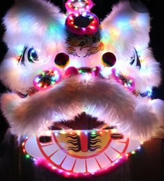 Wholesale Mascot Led - OISK Led Lighting chinese lion dance mascot costume for two men festival celebration costume new year dancer costumes