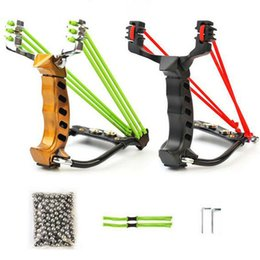 Wholesale Slingshot Steel Ball - Hot Sale 2Rubber Bands Professional Alloy Outdoor Adult Hunting Slingshot With 200Pcs Steel Balls And Accessories