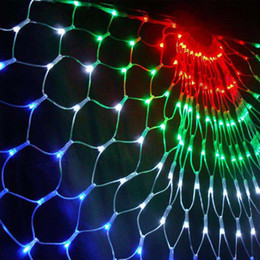 Wholesale Rgb Led Net Lights - christmas lights led waterproof outdoor christmas lights string curtains net lights outdoor christmas lamp wedding holiday decorations