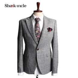 Wholesale Cheap Light Grey Suits Men - Wholesale- Cheap Latest Design 2017 Custom Made Men Light Grey Suits For Wedding Groom Tuxedos For Men Groomsmen (Jacket+Pants+Vest) #NZ117