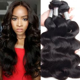 Wholesale Human Hair Pervian Body Waves - Unprocessed Pervian Virgin Hair Body Wave 3 Bundles Peruvian Body Wave Human hair Weave Bundles Virgin Peruvian hair Natural Black