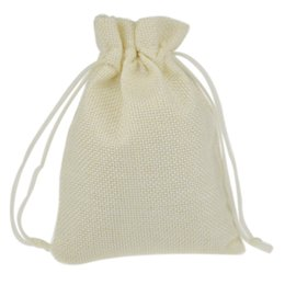 Wholesale Custom Wrapping Paper Wholesale - Wholesale- 9.5x13.5cm White Custom Jute Drawstring Pouch Gift jewelry package bags Stylish Natural Burlap with Nylon Drawstring Reusable