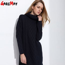 Wholesale White Sweater Dress Turtleneck - GAREMAY Women Sweater Turtleneck Pullover Women Sweater Dress Long Sweaters 2017 Spring White Casual Clothes For Women S061