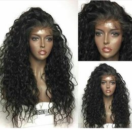 Wholesale Virgin Burmese Hair Deep Wave - 180% Density Peruvian Virgin Full Lace Wigs Deep wave Curly wigs Lace Front Human Hair Wigs With Baby Hair