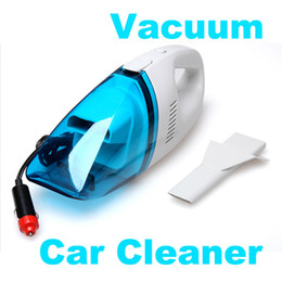 Wholesale Car Cordless - Wholesale-Portable Car Vacuum Cleaner Mini Handheld Dust Collector 60W Cordless Powerful suction lightweight with washable filter