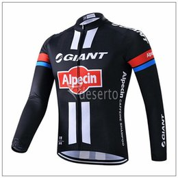 Wholesale Bicycle Giant Jersey Long - Giant Pro Team Men's Cycling Jersey Long Sleeve Tour De France Bike shirt spring autumn bicycle Clothing ropa Ciclismo Invierno D0807