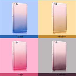 Wholesale Iphone 4c - Fashion Ultra Thin Gradient Color Case TPU Soft Shockproof Cases Cover For Xiaomi Mi 3 4 4C 4S 5 5S 5C 6 Plus