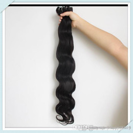 Wholesale Cheap Long Human Hair Weave - Brazilian nature Cheap Human Hair Extensions Body Wave Weaving Long 6inch 8inch Rosa Hair Weft Nature Black Hair Free ship for piece