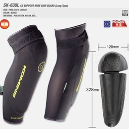 Wholesale Bumper Size - Free shipping komine sk638 CE support knee shin guard long type Motorcycle protective kneepad off-road bicycle bumper flanchard