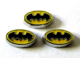 Wholesale Making Friends - 20PCS lot Batman Floating Locket Charms Fit For Glass Living Magnetic Locket Jewelry Making For Friends