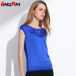 Wholesale Silk T Shirts For Women - Chinese silk Summer women t shirt 2017 tops tees women clothing chiffon o-neck fashion women's T-shirts for short sleeve 048