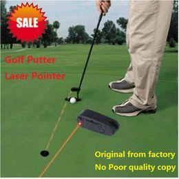 "Wholesale Line Corrector - Wholesale- Golf Putter Laser Training Golf Practice Aid Mini Swing Trainer Putting Aim Line Corrector Putting Laser Sight Aid 2.4x0.9x0.8"""