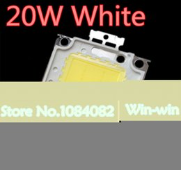 Wholesale Taiwan Chip - Wholesale- 10pcs 20W LED CHIP Integrated High Power Lamp Beads white 600mA 32-34V 1600-1800LM 24*40mil Taiwan Huga Chip