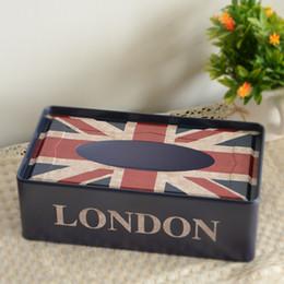 Wholesale London Metal - Wholesale- Hot Selling Metal London Tissue Boxes Boite Mouchoirs Serviette En Papier Car Tissue Box Holder