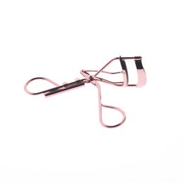 Wholesale Gold Eyelash Curler - Wholesale-Rose Gold Color Metal Best Asian Portable Professional Eyelash Curler Tool Product With Replacement Pad For Women Girls