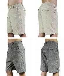 Wholesale Men S Boardshorts - Wholesale- High Quality Mens Elastane Spandex Boardshorts Quick Dry Solid Shorts Bermudas Shorts Men Plus Size Beachshorts Casual Shorts