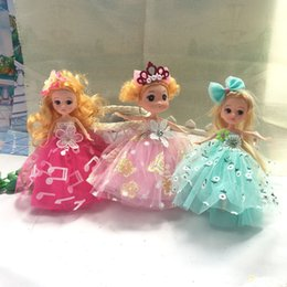 Wholesale New Small Girls Dresses - 2017 New Good Gift Barbie Dolls For Girl Beautiful Print Note Design Cloth Dress BJD TOY