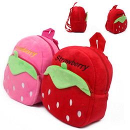 Wholesale Schools Bags Strawberry - New 2017 Strawberry Cartoon Soft Fabrics Baby Bag Backpack Children School Bags For Girl School Rabbit Backpack 1-3T
