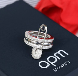 Wholesale Tanzanite Ring Settings - AAA Korean fashion bride ring pin ring set III high-end personalized gift popular free shipping 6-9