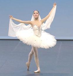 Wholesale Green Ballet Costumes - Ballet, adult skirt, ballet, dance, skirt, skirt, white swan, Swan Lake, professional gymnastics, performance, competition Costume