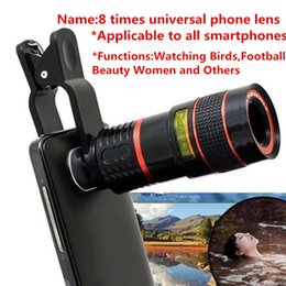 Wholesale Cell Phone Telescope Lens - 8 Times Telescope Universal Smart Cell Phone Clip Lens Pictures Accessories ,Take Pictures More Clearly 3063
