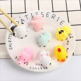 Wholesale Stretchy Balls - 100PCS Novelty Toys Antistress ball Mini Squeeze Toy Squishy cat Cute Kawaii doll Squeeze Stretchy Animal Healing Stress Fidget vent Toys