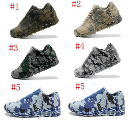 Wholesale Shoe Air Camo - 2018 Retro 90 VT Running Shoes Men And Women Camouflage Air 90 Camo Sports Shoes Trainers Outdoor Athletic Sneakers Eur Size 36-46