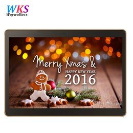 Wholesale Smartphone Greek - Wholesale- Newest waywalkers M9 4G LTE Android 6.0 10.1 inch tablet pc octa core 4GB RAM 64GB ROM IPS Tablets smartphone computer MT8752