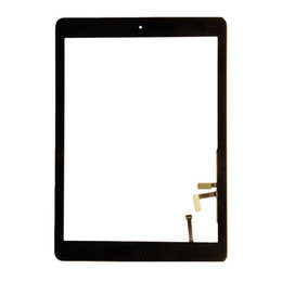 Wholesale Ipad Digitizer Adhesive Button - 50PCS (Tested) Black White For iPad Air 1 iPad 5 Touch Screen Digitizer Panel Outer Glass With Home Button Adhesive Sticker DHL Free