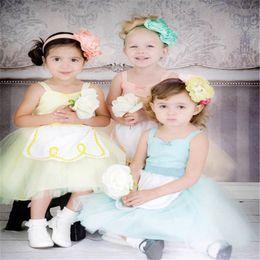 Wholesale American Alice - Baby girls Cinderella Alice Belle princess TuTu lace dress Kids Christmas Halloween costume cartoon children dresses