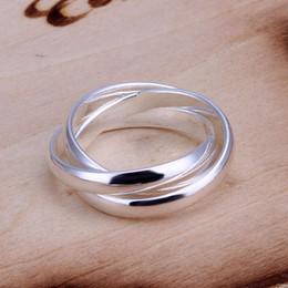 goldener junge klingelt Rabatt Brandneues Drei Sterling Silber Schmuck Ring SR167, brandneue 925 silberne Finger Runde Ringe Band Ringe
