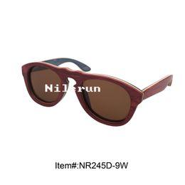 Wholesale Skateboard Wood Sunglasses - fashion cat eye different layeres colored skateboard wood sunglasses