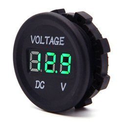 Wholesale led digital volt meter - DC12V LED Digital Display Voltmeter Waterproof for Boat Marine Vehicle Motorcycle Truck ATV Camper Carav- Red Green Blue LED Display