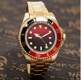 Wholesale Auto Ports - 44MM Luxury watch brand luxury quality man's highest military sports timing wrist watch yellow light golden port 44 mm quartz watch