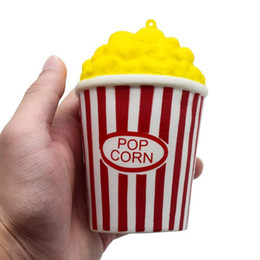 Wholesale Toy Corn - 12CM Squeeze Yellow Popcorn Corn Cup Squishy Kawaii Cream Scented Squishies Slow Rising Kids Toys Fun Collection Stress Relief Toy