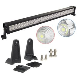 Wholesale Atv Lighting Kit - 32 inch 180W Led Light Bar Combo Beam Work Light For Offroad Truck Jeep Ford Boat Trailer 4x4 ATV SUV 9-32V Auto Lamp (without Wiring Kit)