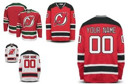 Wholesale Custom Hockey Jerseys Cheap - Stitched Personalized New Jersey Devils Custom Mens Womens Youth Cheap Ice Hockey Jerseys Customized Home Red Green Black Away White S,4XL