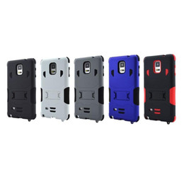 Wholesale Smartphone Case Cover Silicone - 5 color Super Armor Hybrid Case Military 3 in 1 Combo Cover For Smartphone Galaxy Note 4 Stand Case