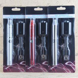 Wholesale E Cig Dry - EVOD 900 mAh herbal vaporizer Evod vape pen Mini ago g5 Vaporizer Blister Starter Kit e Cigarette evod e cig vaporizer dry herb starter kits