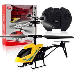 Wholesale Remote Control Helicopter Children - Telecontrol Helicopter Child Mini Remote Control Aviation Aircraft Model Resistance To Fall Convenient Light Easy Operation Colors 24 5hy I1