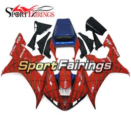 Wholesale Spider Body - Full Fairings For Yamaha YZF 1000 YZF R1 02 03 2002 2003 ABS Motorcycle Body Kit Bodywork Motorbike Spoiler Spider Man Red Carenes New